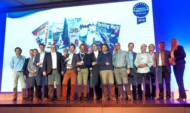 Los ganadores de los premios European Yacht of the Year 2016.