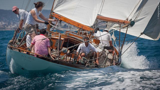 comprar barco de madera – barniz mate – Alba Regata Vela Classica Barcelona