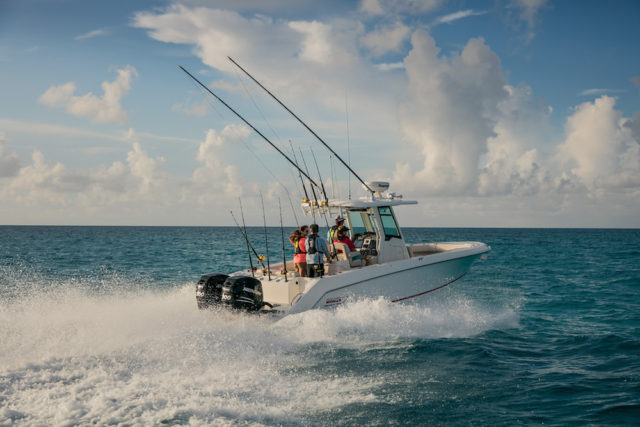 barco motor pesca consola central