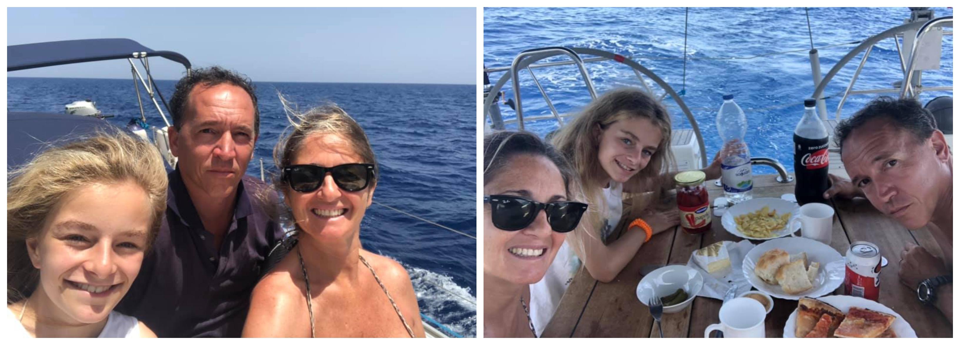 familia en velero viviendo a bordo