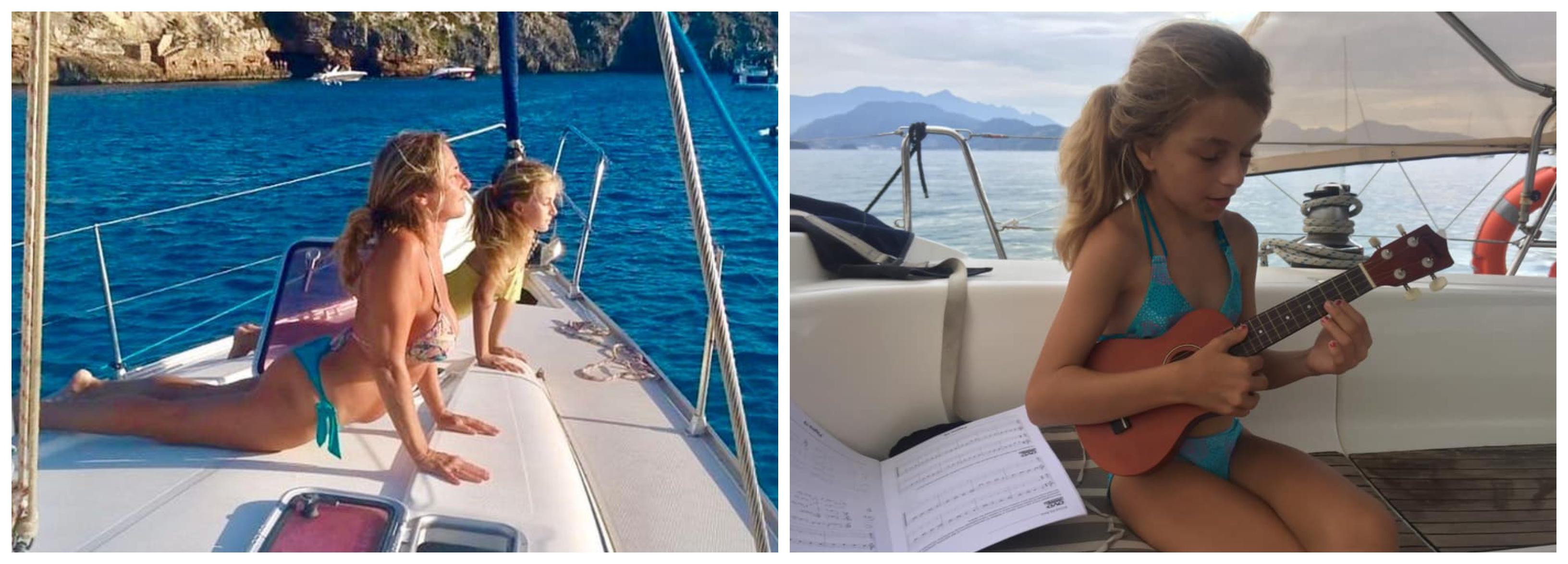 vida familia en velero