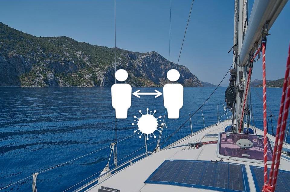 distanciamiento social en barco