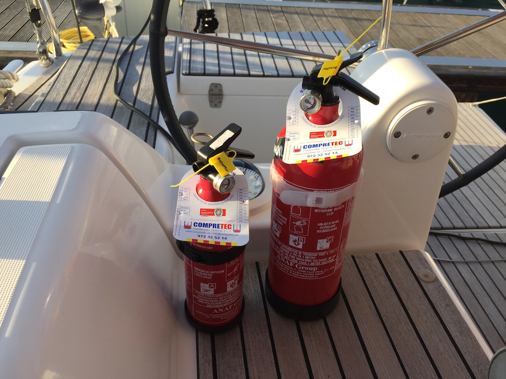Prevencion de incendios a bordo_Extintores
