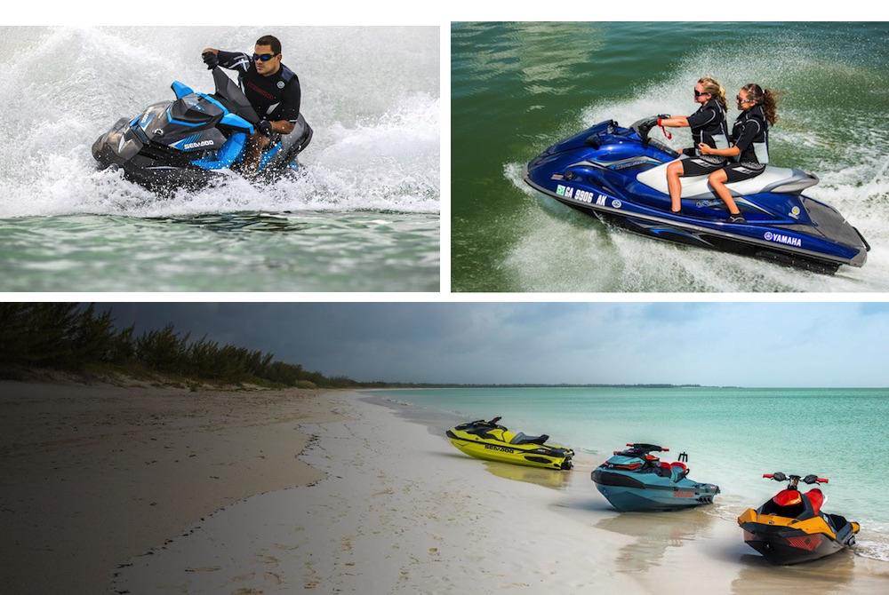 Una moto náutica te pone en contacto casi directo con el agua por un precio relativamente razonable.